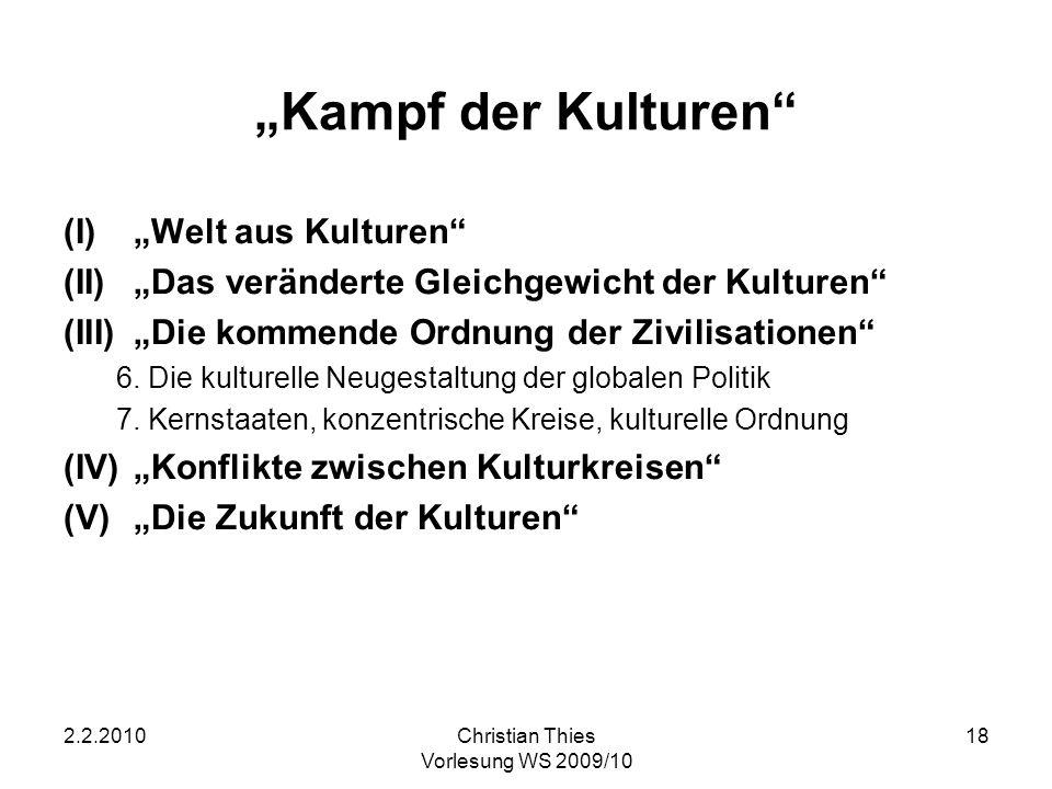"""""""Kampf der Kulturen """"Welt aus Kulturen"""