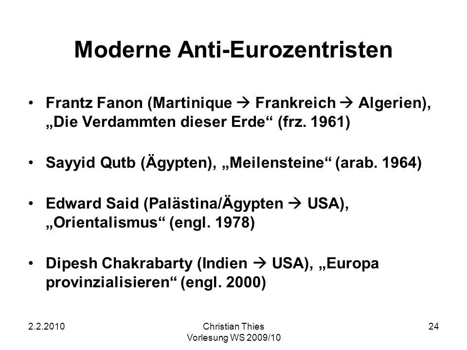 Moderne Anti-Eurozentristen