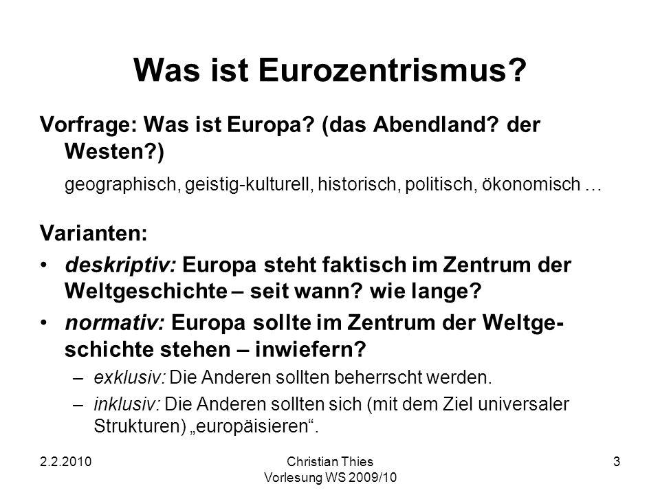 Was ist Eurozentrismus