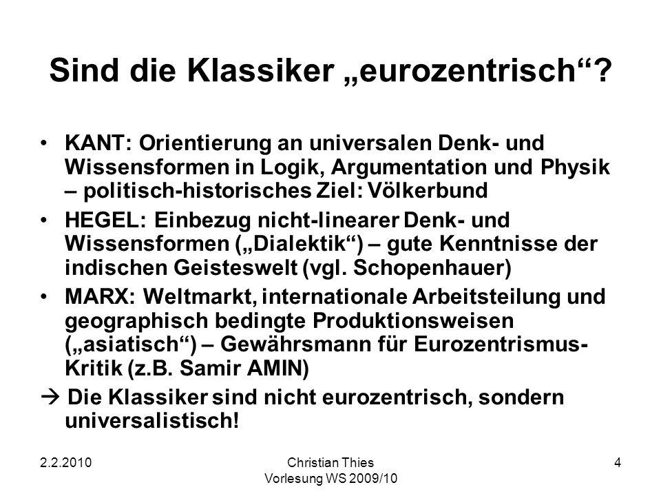 """Sind die Klassiker """"eurozentrisch"""