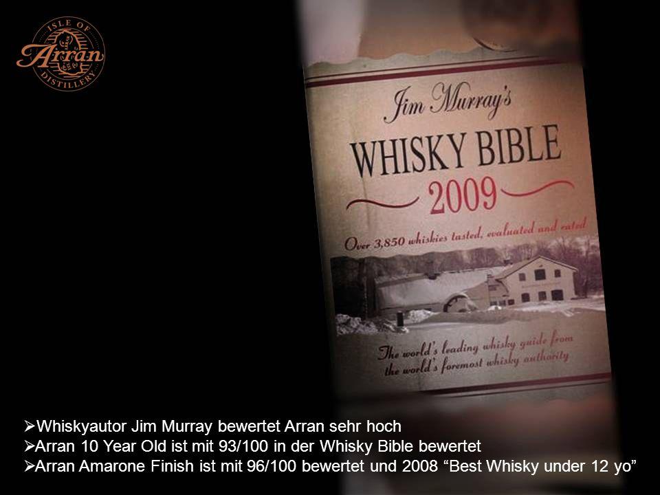 Whiskyautor Jim Murray bewertet Arran sehr hoch