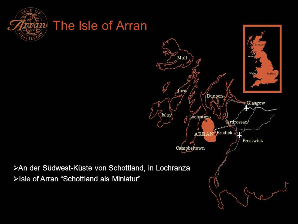 The Isle of Arran An der Südwest-Küste von Schottland, in Lochranza