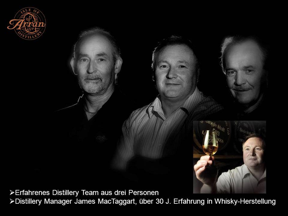 Erfahrenes Distillery Team aus drei Personen