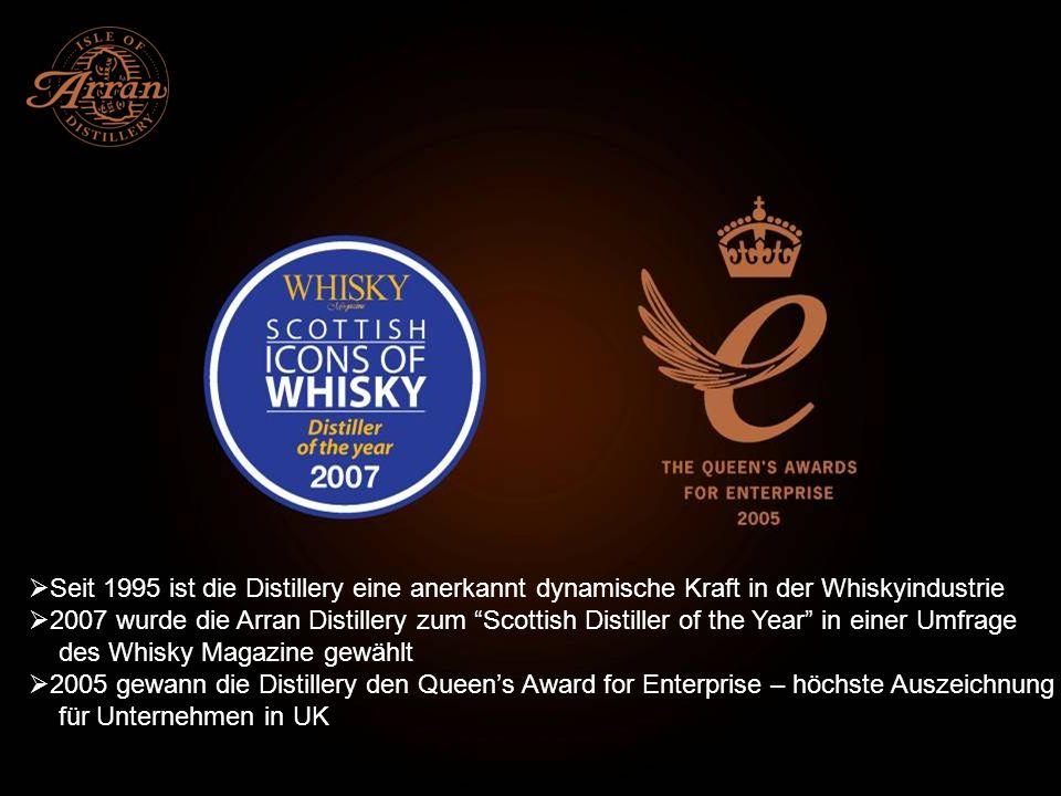 Seit 1995 ist die Distillery eine anerkannt dynamische Kraft in der Whiskyindustrie