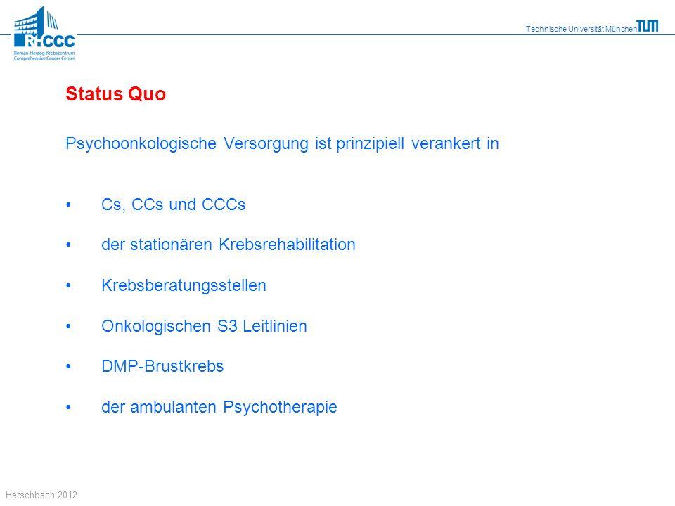 Status Quo Psychoonkologische Versorgung ist prinzipiell verankert in
