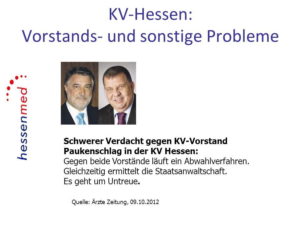 KV-Hessen: Vorstands- und sonstige Probleme