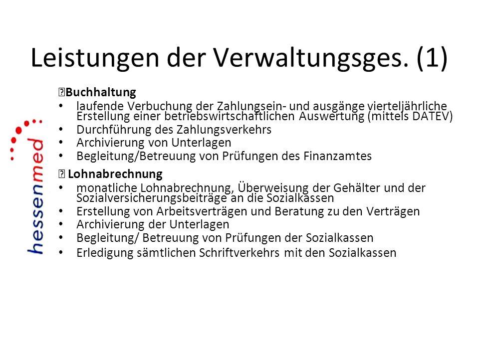 Leistungen der Verwaltungsges. (1)