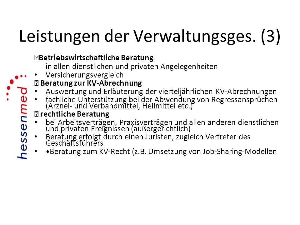 Leistungen der Verwaltungsges. (3)