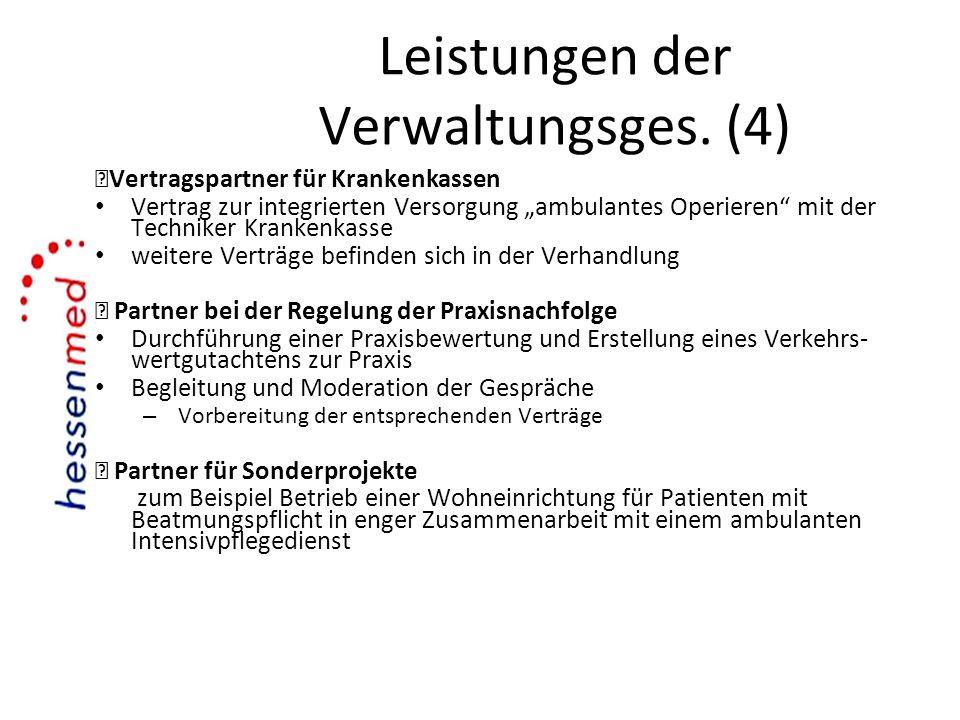 Leistungen der Verwaltungsges. (4)