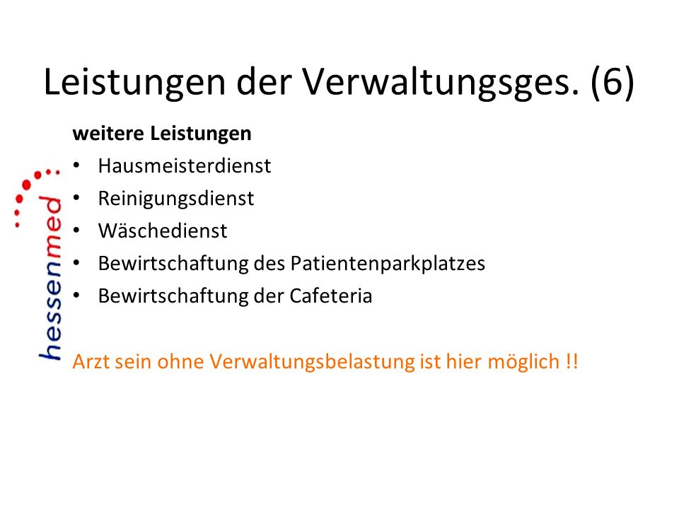 Leistungen der Verwaltungsges. (6)