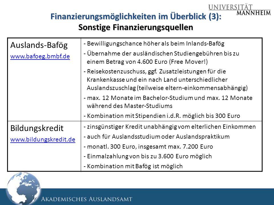 Finanzierungsmöglichkeiten im Überblick (3): Sonstige Finanzierungsquellen