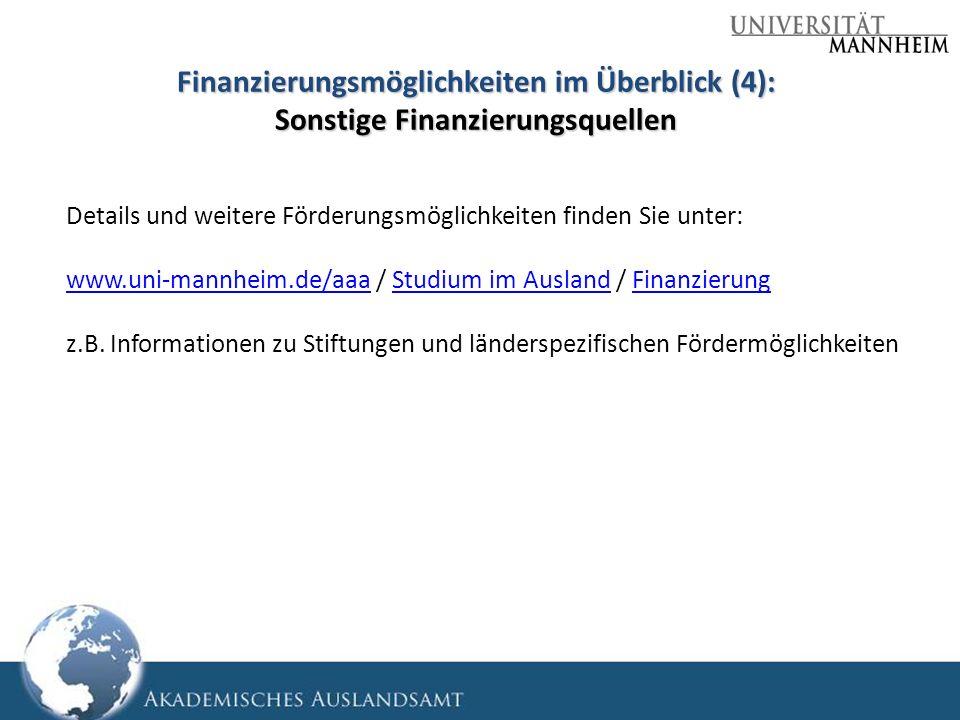 Finanzierungsmöglichkeiten im Überblick (4): Sonstige Finanzierungsquellen