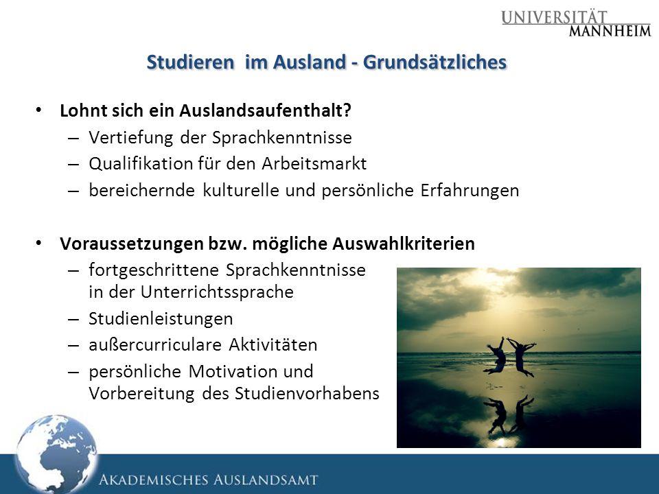 Studieren im Ausland - Grundsätzliches