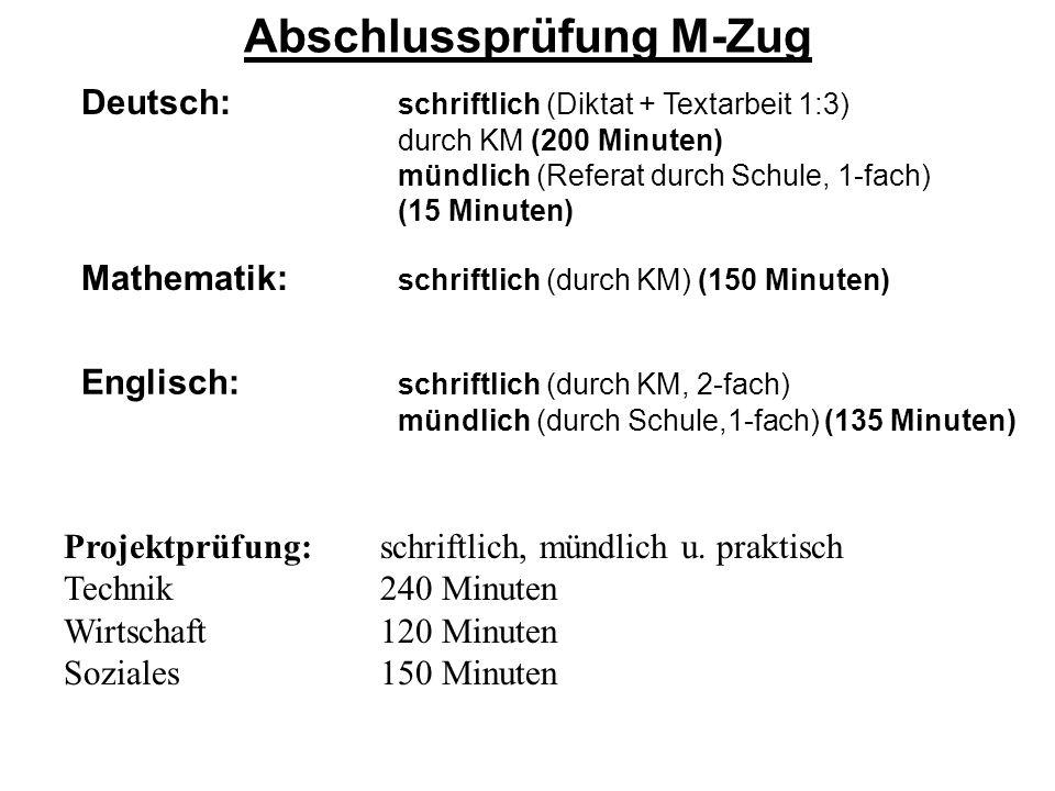 Abschlussprüfung M-Zug