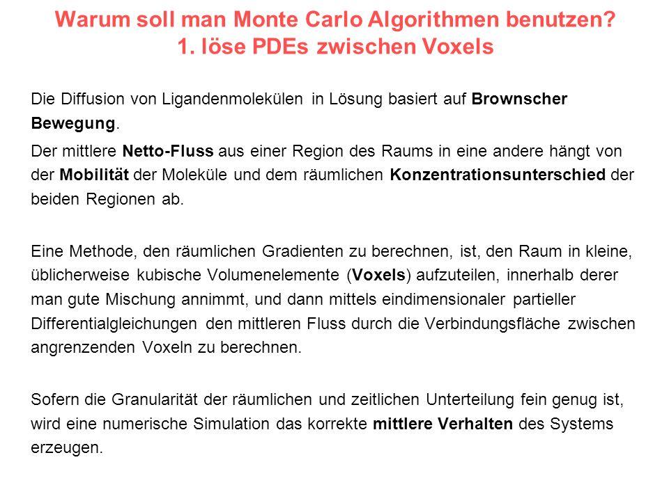 Warum soll man Monte Carlo Algorithmen benutzen. 1