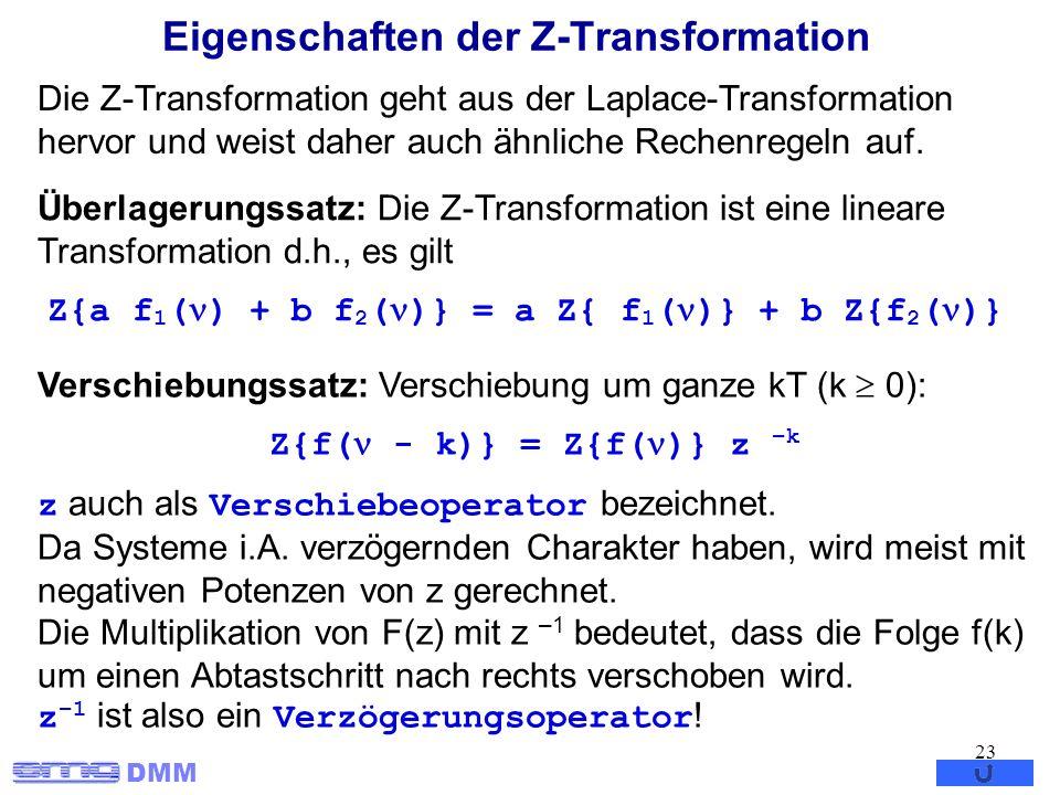 Eigenschaften der Z-Transformation
