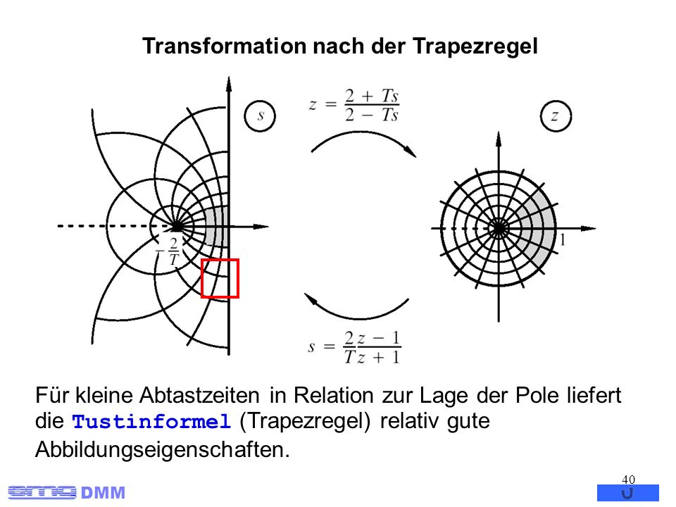 Transformation nach der Trapezregel