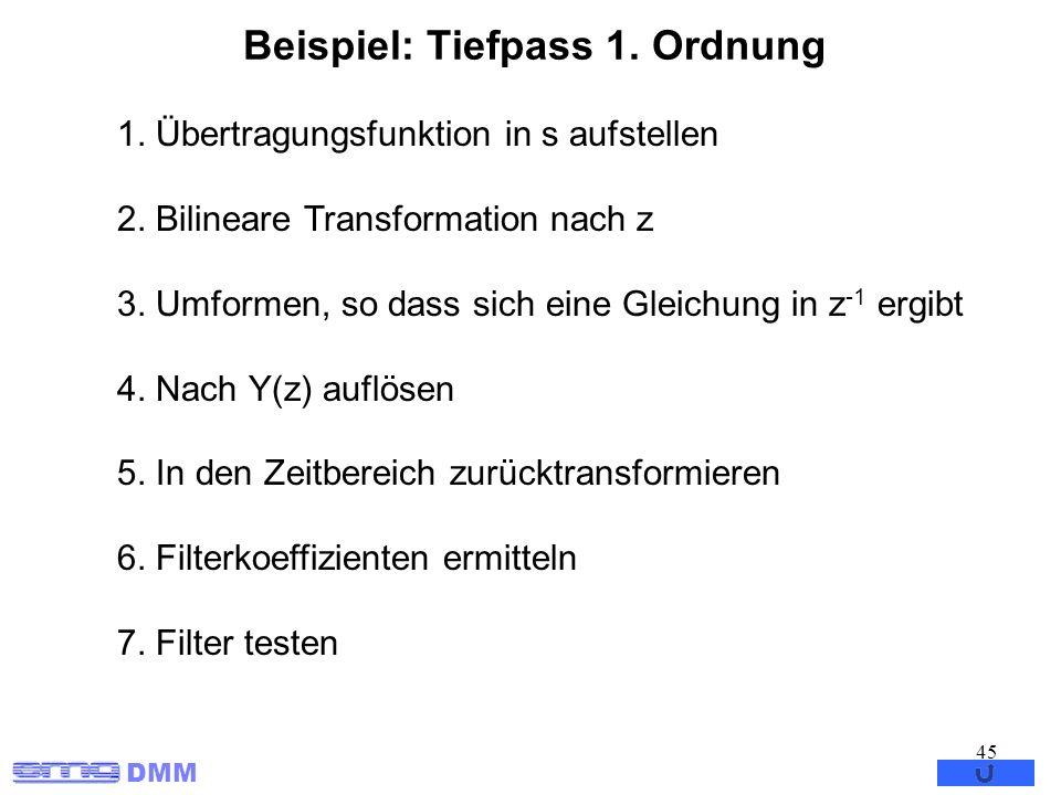 Beispiel: Tiefpass 1. Ordnung