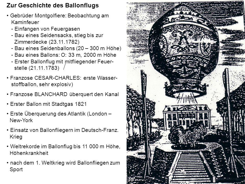 Zur Geschichte des Ballonflugs