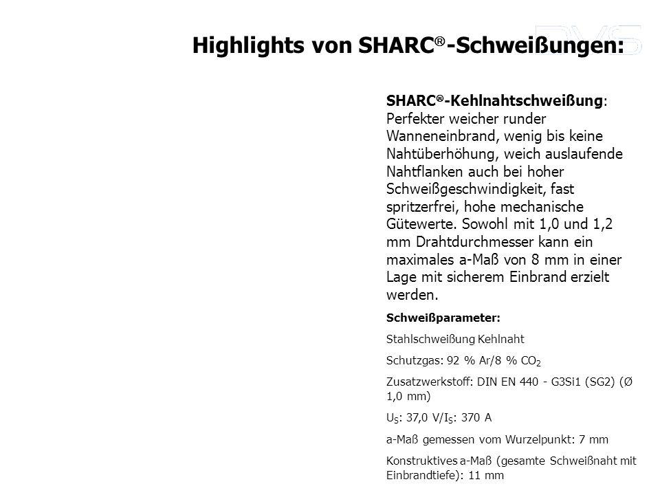 Highlights von SHARC-Schweißungen: