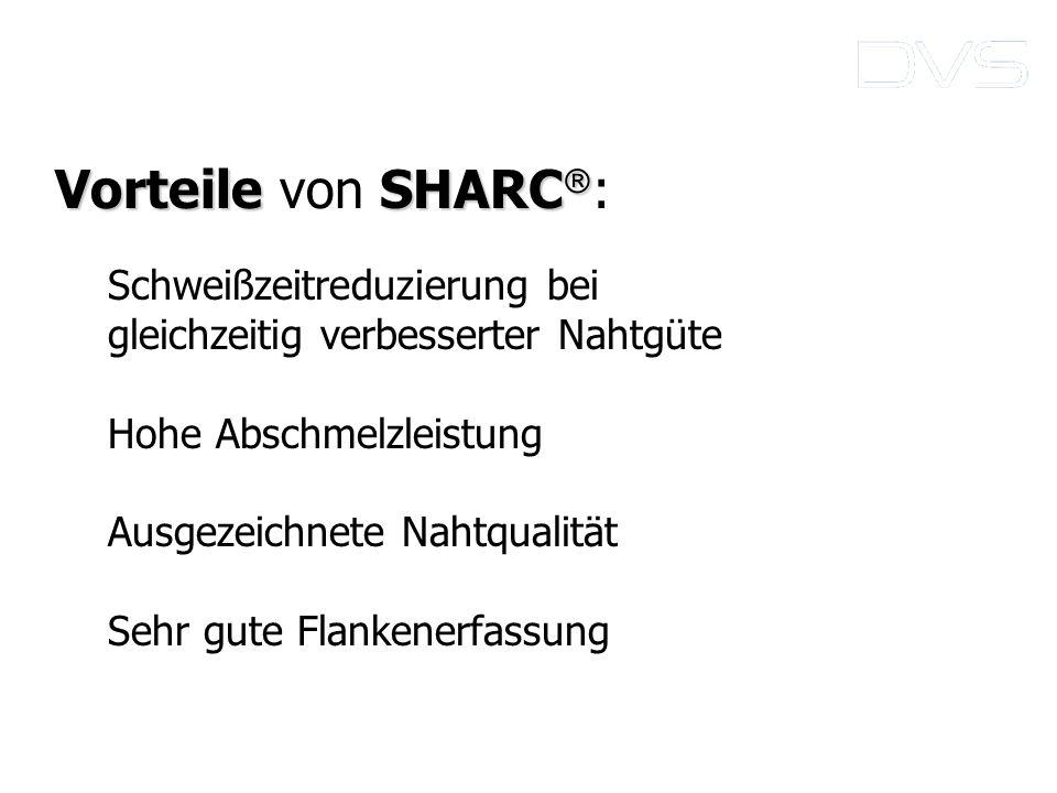 Vorteile von SHARC: Schweißzeitreduzierung bei