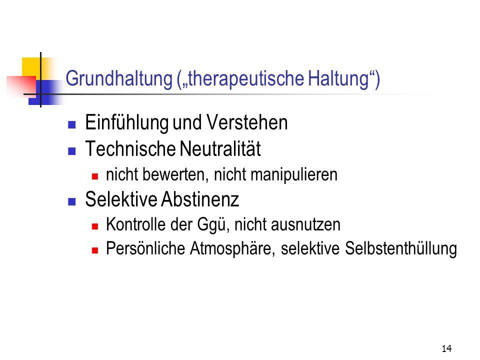 """Grundhaltung (""""therapeutische Haltung )"""