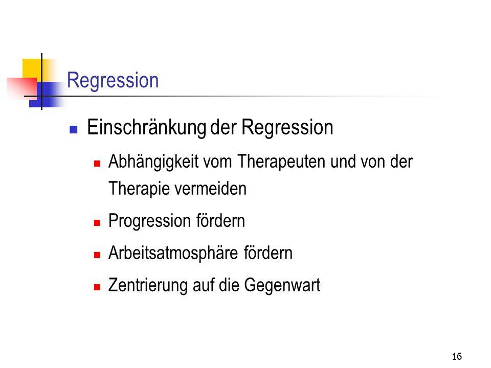 Einschränkung der Regression