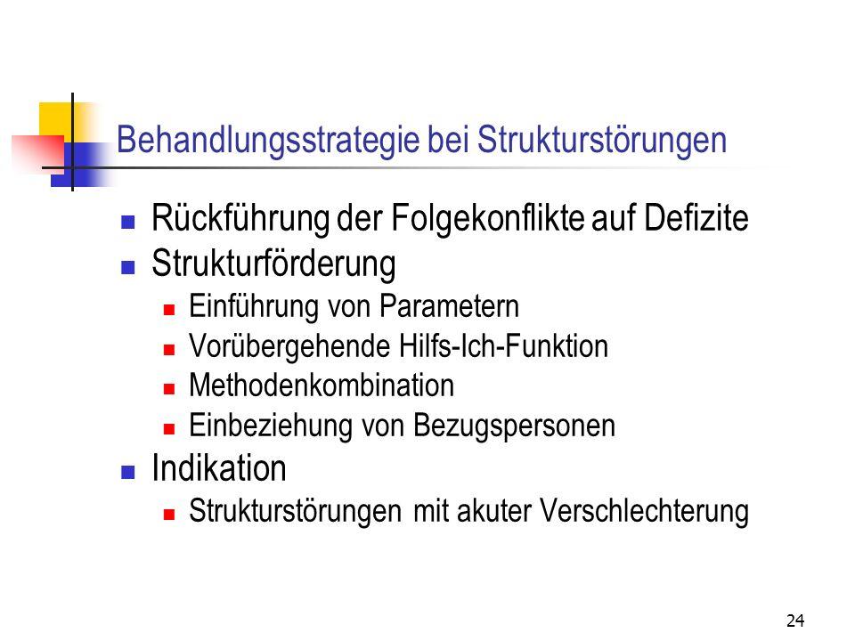 Behandlungsstrategie bei Strukturstörungen