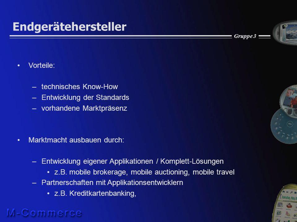 Endgerätehersteller Vorteile: technisches Know-How