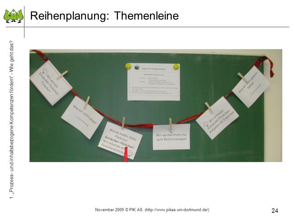 Reihenplanung: Themenleine