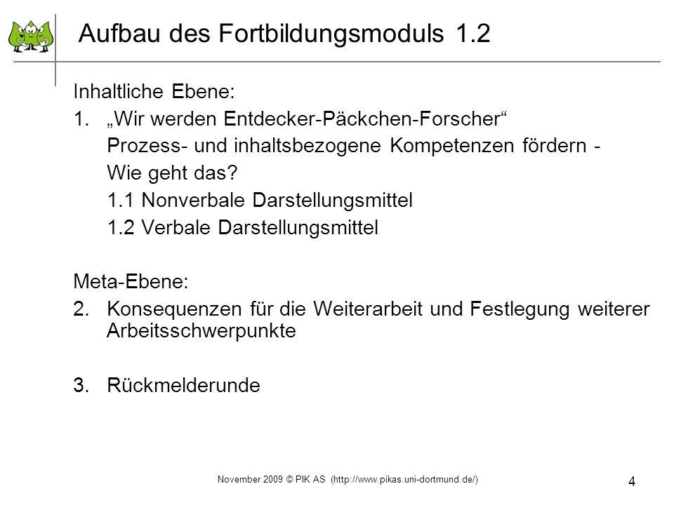 Aufbau des Fortbildungsmoduls 1.2