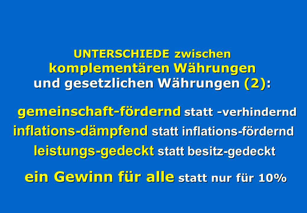 inflations-dämpfend statt inflations-fördernd