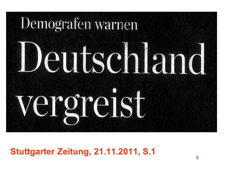 Stuttgarter Zeitung, 21.11.2011, S.1