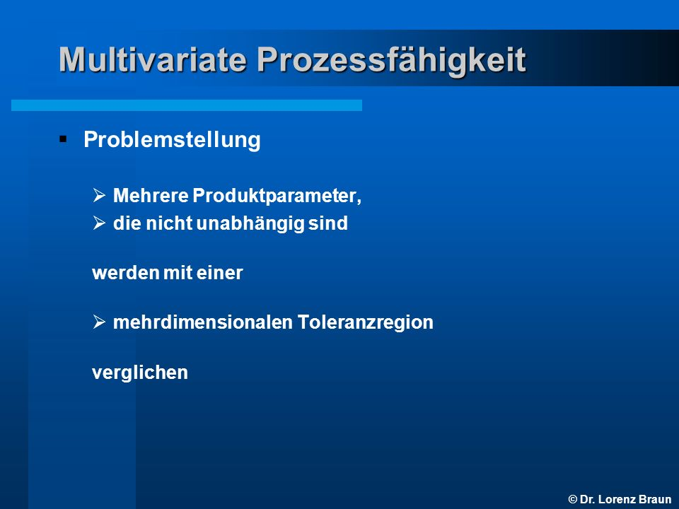 Multivariate Prozessfähigkeit