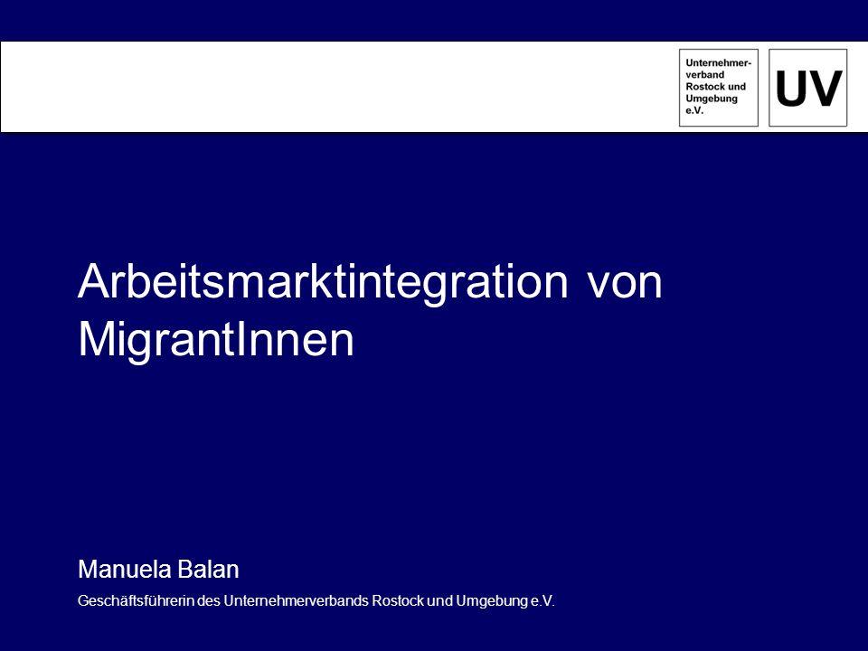 Arbeitsmarktintegration von MigrantInnen