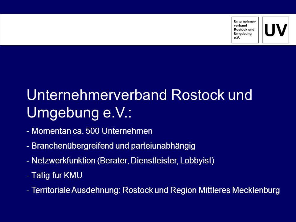 Unternehmerverband Rostock und Umgebung e.V.: