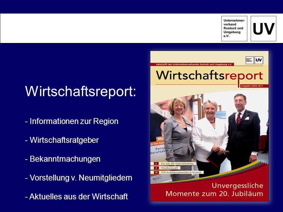 Wirtschaftsreport: - Informationen zur Region Wirtschaftsratgeber