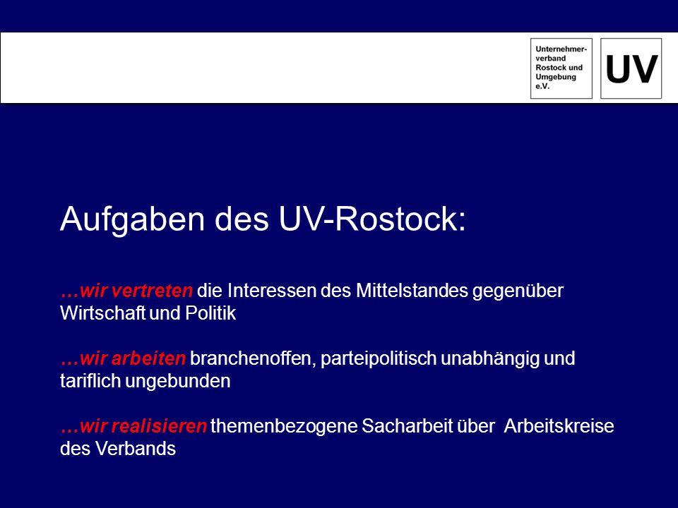 Aufgaben des UV-Rostock: