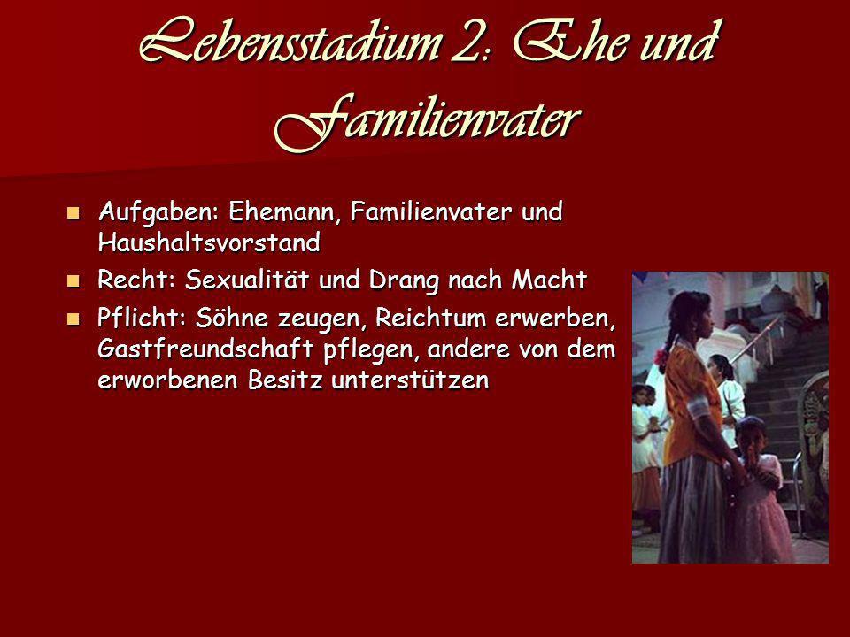 Lebensstadium 2: Ehe und Familienvater
