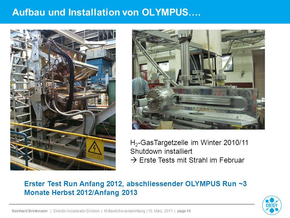 Aufbau und Installation von OLYMPUS….