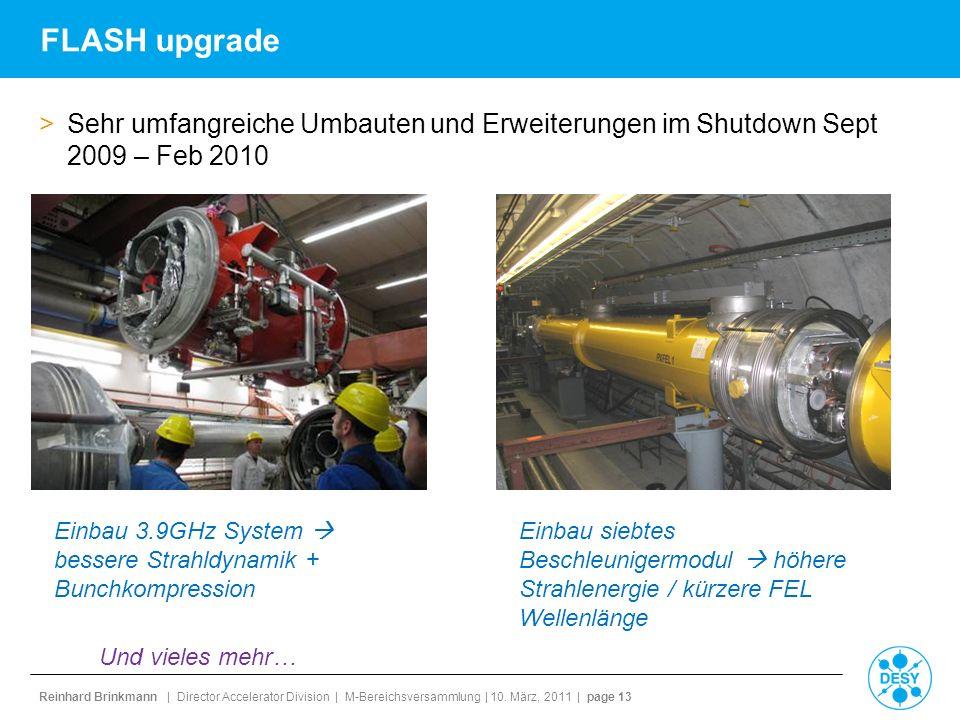 FLASH upgrade Sehr umfangreiche Umbauten und Erweiterungen im Shutdown Sept 2009 – Feb 2010.