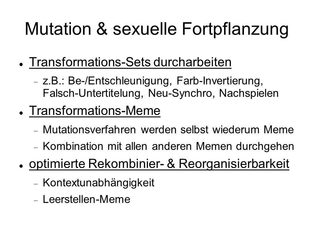 Mutation & sexuelle Fortpflanzung