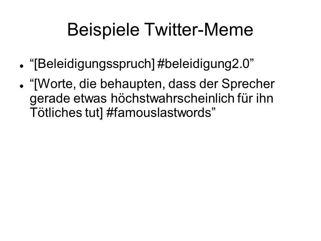 Beispiele Twitter-Meme