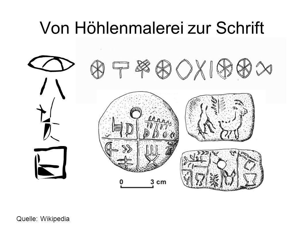 Von Höhlenmalerei zur Schrift