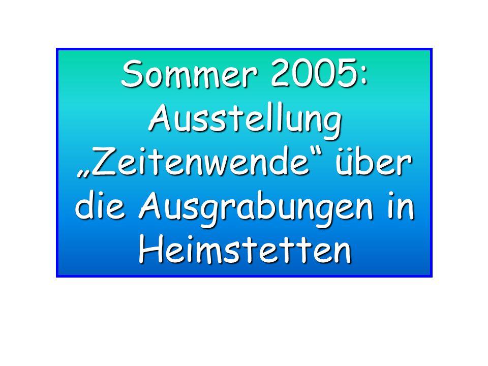 """Ausstellung """"Zeitenwende über die Ausgrabungen in Heimstetten"""