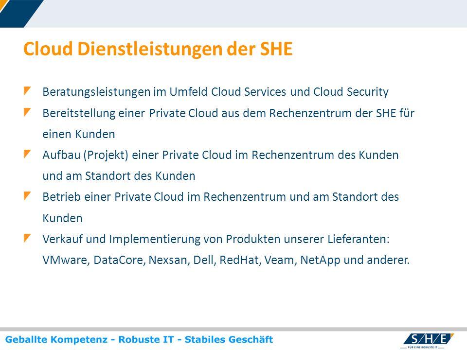 Cloud Dienstleistungen der SHE