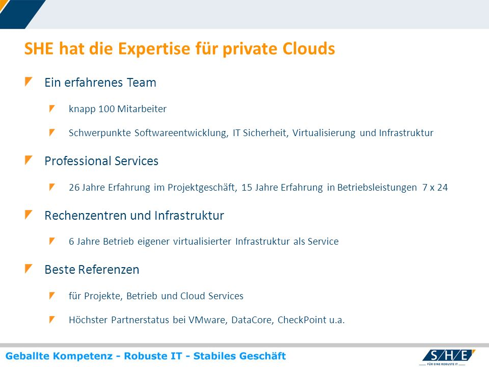 SHE hat die Expertise für private Clouds