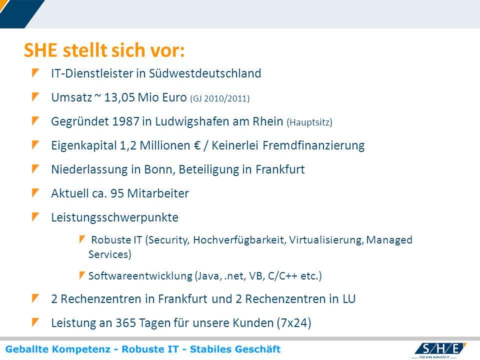 SHE stellt sich vor: IT-Dienstleister in Südwestdeutschland