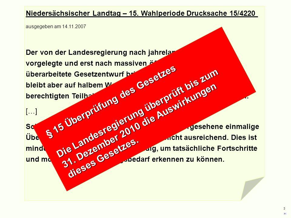 § 15 Überprüfung des Gesetzes