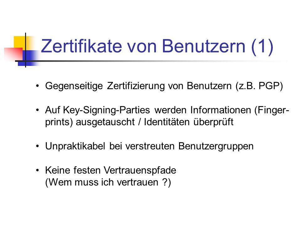 Zertifikate von Benutzern (1)